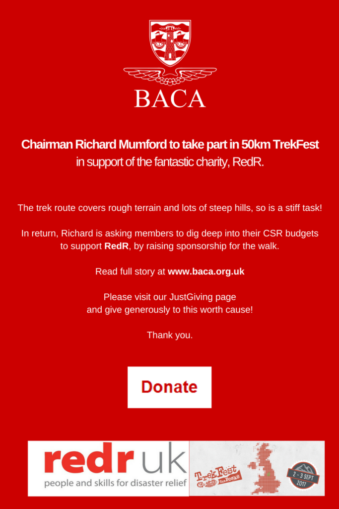 baca chairman takes part in trekfest to support charity redr the